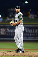 Fort Wayne TinCaps pitcher Joe Church (25) during a game against the Great Lakes Loons on August 19, 2013 at Dow Diamond in Midland, Michigan.  Great Lakes defeated Fort Wayne 12-5.  (Mike Janes/Four Seam Images)