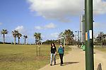 Israel, Sharon region, Israel Trail at the promenade of Netanya