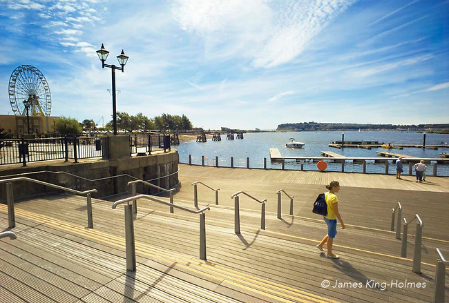Summer morning in Cardiff Bay, Wales