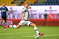 Andreas Cornelius of Parma in action during the Serie A football match between Parma and FC Internazionale at stadio Ennio Tardini in Parma ( Italy ), June 28th, 2020. Play resumes behind closed doors following the outbreak of the coronavirus disease. <br /> Photo Andrea Staccioli / Insidefoto