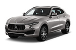 2018 Maserati Levante Base 5 Door SUV angular front stock photos of front three quarter view
