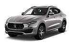2018 Maserati Levante Base 5 Door SUV angular front stock photos of front three quarter view