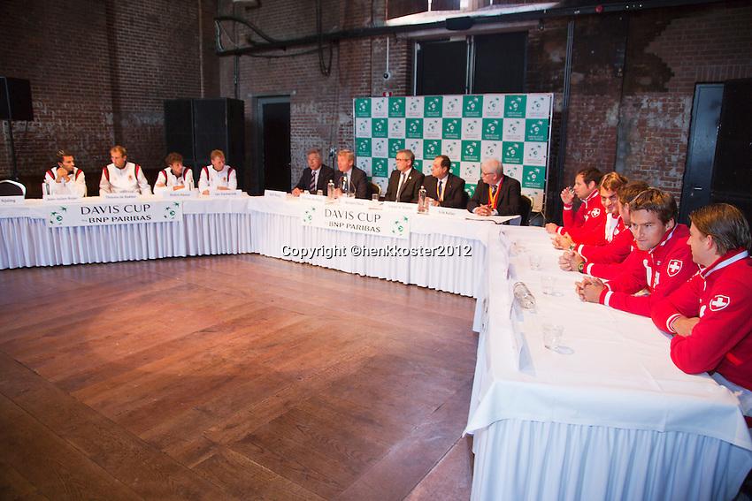 13-09-12, Netherlands, Amsterdam, Tennis, Daviscup Netherlands-Swiss, Draw