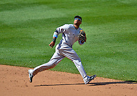 17 June 2012: New York Yankees second baseman Robinson Cano in action against the Washington Nationals at Nationals Park in Washington, DC. The Yankees defeated the Nationals 4-1 to sweep their 3-game series. Mandatory Credit: Ed Wolfstein Photo