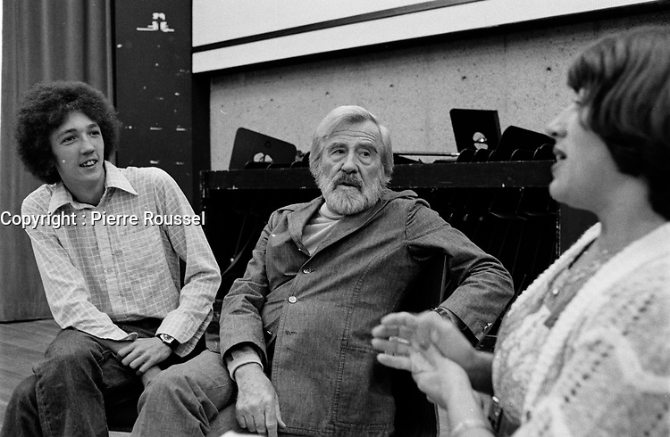 Gratien Gelinas<br /> , 1976<br /> <br /> PHOTO : Agence Quebec Presse