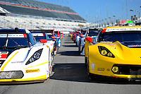 22-25 January, 2015, Daytona Beach, Florida USA<br /> Detail; 53rd Rolex 24 at Daytona full field.<br /> ©2015, F. Peirce Williams