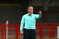 Referee John Busby during Crawley Town vs Morecambe, Sky Bet EFL League 2 Football at Broadfield Stadium on 17th October 2020