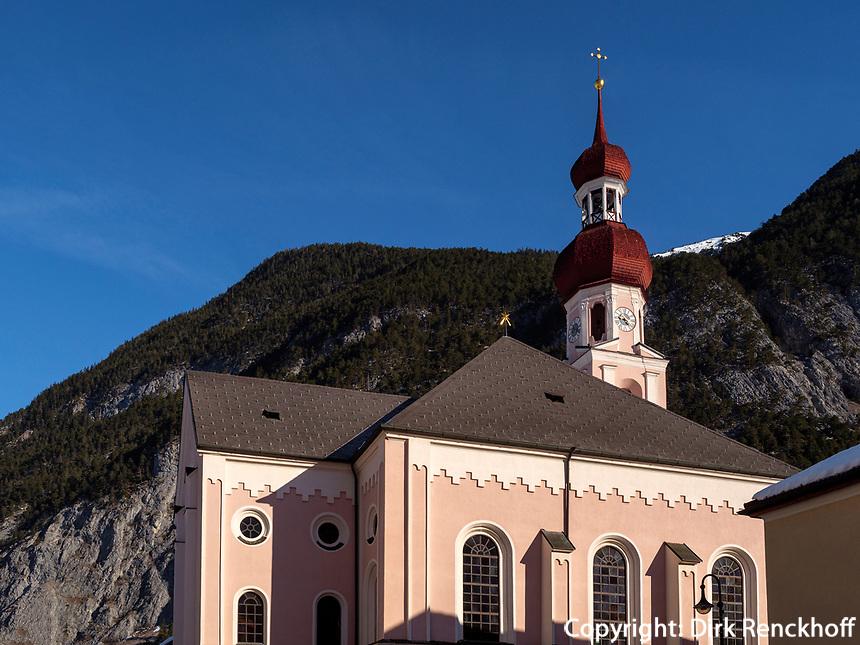 Pfarrkirche in Nassereith. Gurgltal in Tirol, Österreich, Europa<br /> parish church in  Nassereith, , district Imst, Tyrol, Austria, Europe