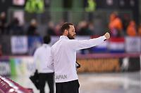 SPEEDSKATING: HAMAR: 01-03-2020, ISU World Speed Skating Championships, Allround, 1500m Ladies, Johan de Wit (Coach Japan), ©photo Martin de Jong
