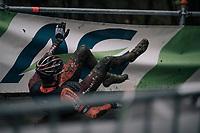 Jens Adams (BEL/Pauwels Sauzen-Vastgoedservice) crashing<br /> <br /> Elite Men's Race<br /> CX Vlaamse Druivencross Overijse 2017