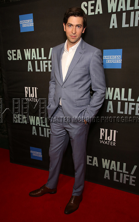 "Nicholas Braun attends the Broadway Opening Night performance of ""Sea Wall / A Life"" at the Hudson Theatre on August 08, 2019 in New York City."