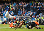 Arnold Peralta tackled by John Rankin