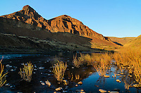 John Day River about 1 1/2 miles upriver from 30 Mile Creek confluence.  Late evening light.  Oregon.  April.