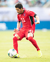 CHARLOTTE, NC - JUNE 23: Roberney Caballero #22 during a game between Cuba and Canada at Bank of America Stadium on June 23, 2019 in Charlotte, North Carolina.