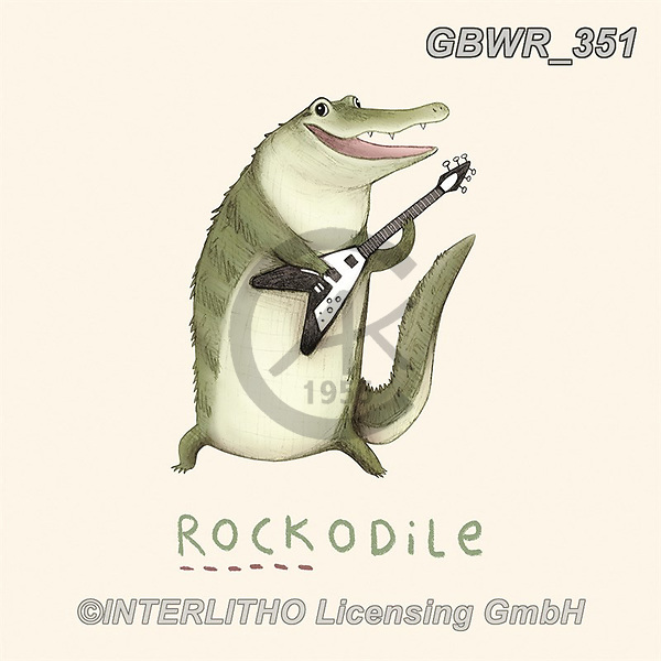 Simon, REALISTIC ANIMALS, REALISTISCHE TIERE, ANIMALES REALISTICOS, innovativ, paintings+++++SophieCorrigan_Rockadile,GBWR351,#a#, EVERYDAY
