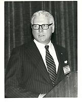 Le president du Cercle canadien de Montreal, Andrew Kniewasser le 3 novembre 1981<br /> <br /> <br /> PHOTO : Agence Quebec Presse <br /> <br /> <br /> <br /> <br /> <br /> <br /> <br /> PHOTO :   Agence Quebec Presse