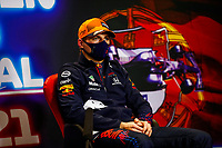VERSTAPPEN Max (ned), Red Bull Racing Honda RB16B, portrait, press conference during the Formula 1 Heineken Grande Prémio de Portugal 2021 from April 30 to May 2, 2021 on the Algarve International Circuit, in Portimao, Portugal<br /> FORMULA 1 : Grand Prix Portugal - Essais - Portimao - 01/05/2021<br /> Photo DPPI/Panoramic/Insidefoto <br /> ITALY ONLY