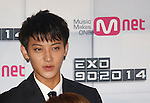 Chan-Yeol(EXO), Aug 11, 2014 : ChanYeol of South Korean-Chinese K-Pop idol boy band EXO, attends a presentation for their new show on Mnet, 'EXO 90:2014', at CJ E&M Center in Seoul, South Korea. (Photo by Lee Jae-Won/AFLO) (SOUTH KOREA)