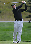 4 October 2008: Kyle Thompson watches a tee shot during the third round at the Turning Stone Golf Championship in Verona, New York