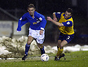 20/12/03          Copyright Pic : James Stewart.File Name : stewart14-stjohn_v_qos.KEIGAN PARKER GETS PAST ANDY AITKEN....Payment should be made to :-.James Stewart Photo Agency, 19 Carronlea Drive, Falkirk. FK2 8DN      Vat Reg No. 607 6932 25.Office     : +44 (0)1324 570906     .Mobile  : +44 (0)7721 416997.Fax         :  +44 (0)1324 570906.E-mail  :  jim@jspa.co.uk.If you require further information then contact Jim Stewart on any of the numbers above.........