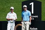 SHENZHEN, CHINA - NOVEMBER 01: Jordan Sherratt (R) of Australia and Peter Spearman-Burn of New Zealand wait fo tee off on the 1st hole during the final round of the Asian Amateur Championship at the Mission Hills Golf Club on November 1, 2009 in Shenzhen, Guangdong, China.  (Photo by Victor Fraile/The Power of Sport Images) *** Local Caption *** Peter Spearman-Burn; Jordan Sherratt