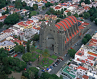 aerial photograph of Mexico City, Mexico.