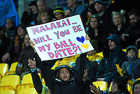 Fans in the grandstand during the Super Rugby match between the Hurricanes and Highlanders at Westpac Stadium, Wellington, New Zealand on Friday, 27 May 2016. Photo: Dave Lintott / lintottphoto.co.nz