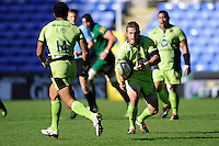 Stephen Myler of Northampton Saints during the Premiership Rugby match between London Irish and Northampton Saints at the Madejski Stadium on Saturday 4th October 2014 (Photo by Rob Munro)
