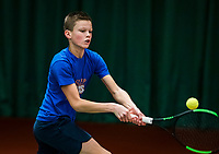 Wateringen, The Netherlands, November 27 2019, De Rhijenhof , NOJK 12 and16 years, Sander Paradis (NED)<br /> Photo: www.tennisimages.com/Henk Koster