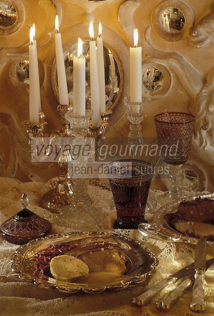 """Europe/Autriche/Salzbourg : Repas de Noël - Cerf braisé au vin rouge au restaurant """"Gasthof Hohlwegwirt"""""""