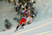 19th December 2020; Saslong, Val Gardena, Tyrol, Italy; International Ski Federation Alpine Ski World Cup, 2nd Men's Downhill, Val Gardena; James Crowford (CAN)