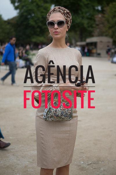 Paris, Franca' 30/09/2013 - Moda de rua durante a Semana de moda de Paris  -  Verao 2014. <br /> Foto: Mastrangelo/ FOTOSITE