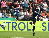 25th September 2021; Swansea.com Stadium, Swansea, Wales; EFL Championship football, Swansea versus Huddersfield; Danel Sinani of Huddersfield Town shoots towards goal