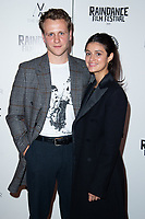 """Josh Dylan and Anya Chalotra<br /> arriving for the """"Stardust"""" premiere part of the Raindance Film Festival 2020, at the Mayfair Hotel, London.<br /> <br /> ©Ash Knotek  D3563 28/10/2020"""