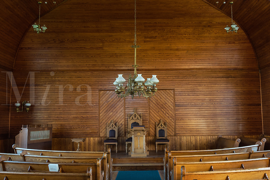 Interior of Union Christian Church located within the Calvin Coolidge Homestead District.