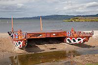 Maori Catamaran, Ohinemutu Maori Village, Rotorua, north island, New Zealand.