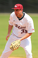 UMass Dylan Begin #39 during a game vs Indiana Hoosiers at Lake Myrtle Main Field in Auburndale, Florida;  March 16, 2011.  Indiana defeated UMass 11-10.  Photo By Mike Janes/Four Seam Images