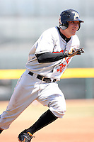 April 15th 2008:  Outfielder Nolan Reimold (30) of the Bowie Baysox, Class-AA affiliate of the Baltimore Orioles, during a game at Jerry Uht Park in Erie, PA.  Photo by:  Mike Janes/Four Seam Images