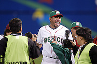Benji Gil of Mexico during the World Baseball Championships at Angel Stadium in Anaheim,California on March 16, 2006. Photo by Larry Goren/Four Seam Images