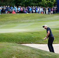 4th July 2021; Mount Juliet Golf Club, Kilkenny, Ireland; Dubai Duty Free Irish Open Golf, Day Four; Maximilian Kieffer of Germany plays out of the 18th green side bunker