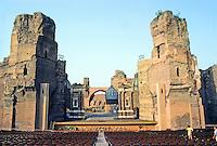 Italy: Rome--Baths of Caraculla, site of Caldarium (hot baths). A circular room, 112 ft. diameter, where opera is now performed. Photo '83.
