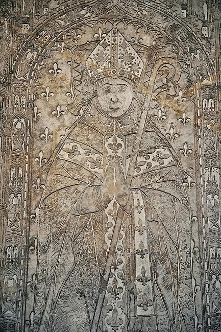 Tomb of  Antoine de La Haye abbot of St Denis 1499 to 1505.. The Gothic Cathedral Basilica of Saint Denis ( Basilique Saint-Denis ) Paris, France. A UNESCO World Heritage Site.