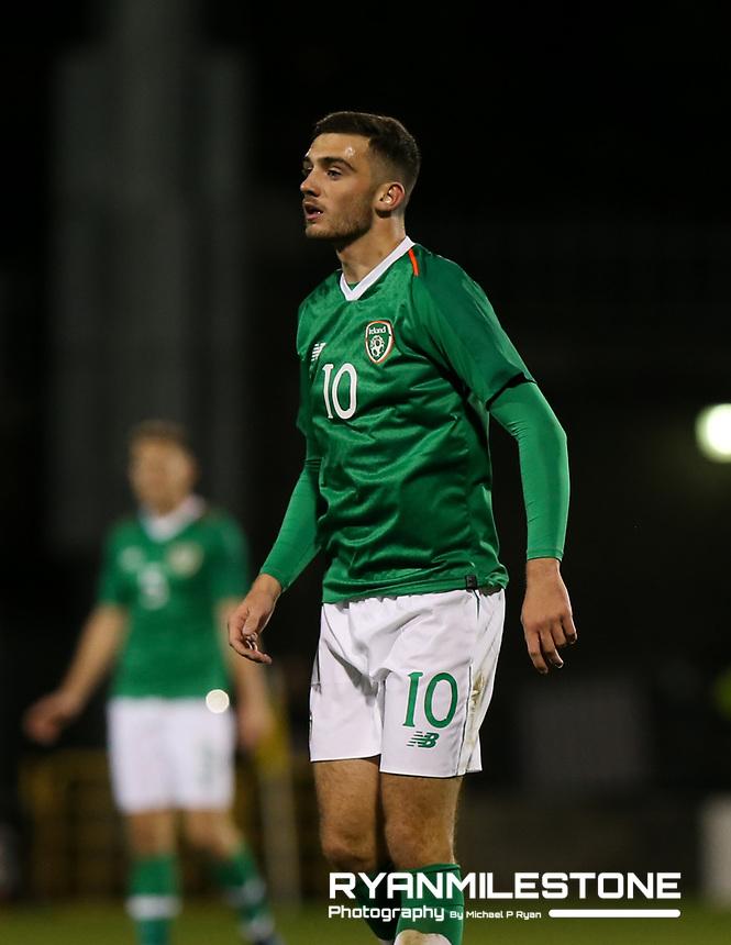 EVENT:<br /> UEFA European U21 Championship Qualifier Group 1 Republic of Ireland v Italy<br /> Thursday 10th October 2019,<br /> Tallaght Stadium, Dublin<br /> <br /> CAPTION:<br /> Troy Parrott of Republic of Ireland<br /> <br /> Photo By: Michael P Ryan