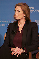Samantha Power, Former US Ambassador to the United Nations(2013-2017) who from 2009 to 2013, served in President Obama's Cabinet  on the National Security Council as Special Assistant and Senior Director for Multilateral Affairs and Human Rights, now Harvard Professor of Law ,Global Leadership and Public Policy