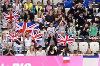 SUPPORTERS Great Britain <br /> Team Free Preliminary  <br /> London, Queen Elizabeth II Olympic Park Pool <br /> LEN 2016 European Aquatics Elite Championships <br /> Synchronized Swimming <br /> Day 03 10-05-2016<br /> Photo Andrea Staccioli/Deepbluemedia/Insidefoto