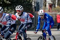 Eventual winner Jasper Stuyven (BEL/Trek-Segafredo) just picked up his feedbag/musette<br /> <br /> 112th Milano-Sanremo 2021 (1.UWT)<br /> 1 day race from Milan to Sanremo (299km)<br /> <br /> ©kramon
