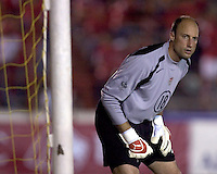 USA's Kasey Keller prepares for a corner kick against.Panama in the second half in Panama City, Panama, Wednesday, June 8, 2005. The USA won 3-0.