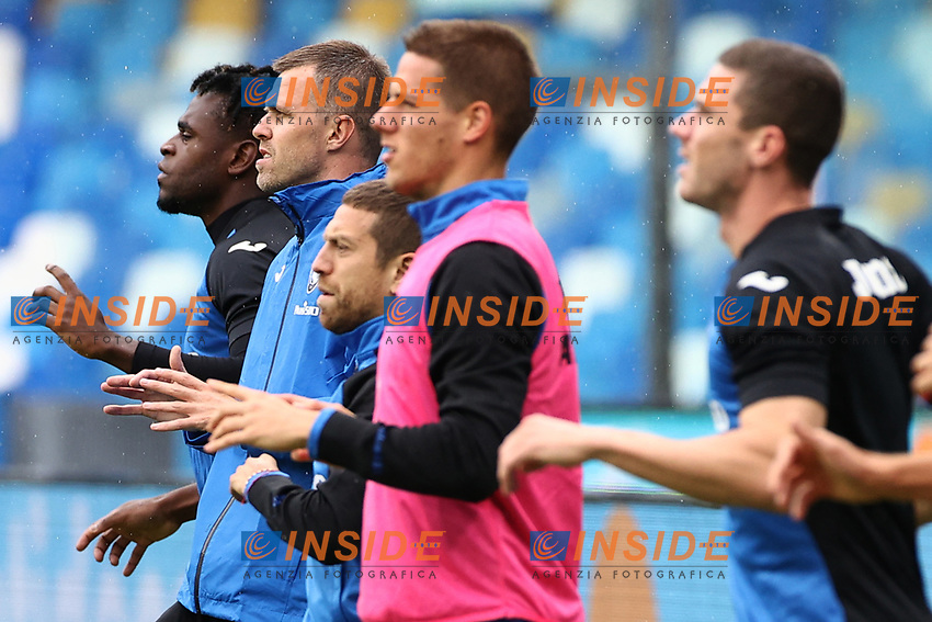 Josip Ilicic of Atalanta BC and Alejandro Dario Gomez  during the warm up<br /> prior to the Serie A football match between SSC Napoli and Atalanta BC at stadio San Paolo in Napoli (Italy), October 17th, 2020. <br /> Photo Cesare Purini / Insidefoto