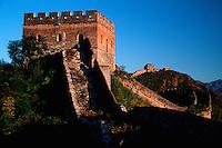 The Great Wall of China and the watchtower at at Jinshanling Pass. China.