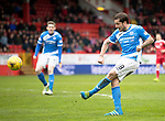 Aberdeen v St Johnstone…29.04.17     SPFL    Pittodrie<br />Paul Paton<br />Picture by Graeme Hart.<br />Copyright Perthshire Picture Agency<br />Tel: 01738 623350  Mobile: 07990 594431